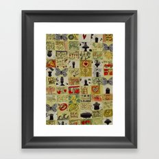 Post it. Framed Art Print