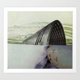post industrial thermal baths Art Print