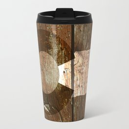 Rustic brown wooden Colorado flag Travel Mug
