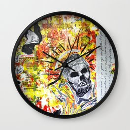Truth the Fallen King Mixed-Media Collage Wall Clock