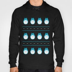 Ghibli Winter Pattern - Blue Hoody