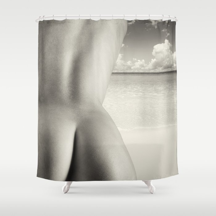 Nudist Beach Shower Curtain