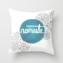 Namaste Mandala  Throw Pillow