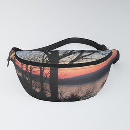 Ohio River Kentucky view From southern Illinois sunrise Fanny Pack