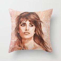 Penelope Cruz Throw Pillow