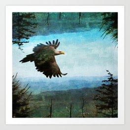 Eagle World Art Print