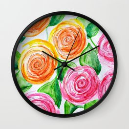lollipop roses Wall Clock