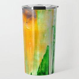 Green abstract nature vibes Travel Mug