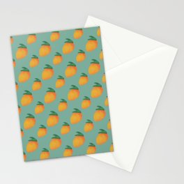 Nostalgic Orange Mangoes Stationery Cards