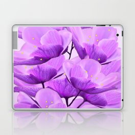 Violet Anemones Spring Atmosphere #decor #society6 #buyart Laptop & iPad Skin