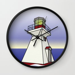 Lighthouse Sea Scene Wall Clock