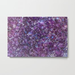 Purple Geode Metal Print