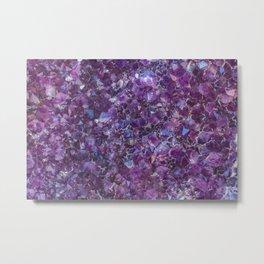 Purple Geode Metal Print