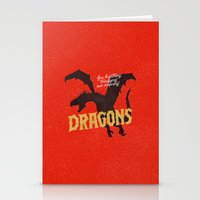 dungeons and dragons Stationery Cards featuring Dragons by WEAREYAWN