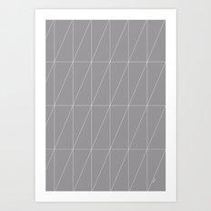 Grey Triangles by Friztin Art Print