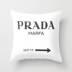 Grey Marfa  Throw Pillow