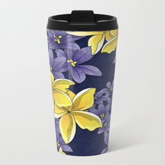 Complementary flowers Metal Travel Mug