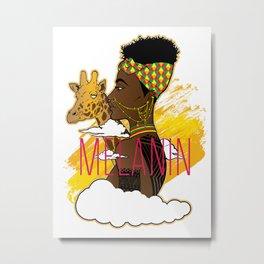 Melanin Metal Print