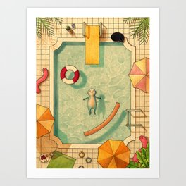 Pool Thoughts Art Print