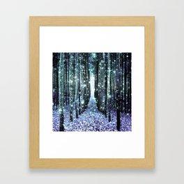 Magical Forest Lavender Aqua/Teal Framed Art Print