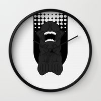 xenomorph Wall Clocks featuring Xenomorph Chestburster (PredAlien) by XrayAlpha