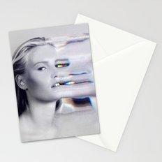 Glitch Face Melt Stationery Cards