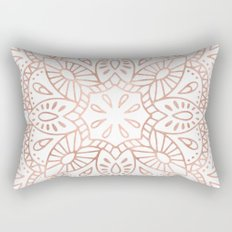 Mandala Rose Gold Pink Shimmer by Nature Magick Rectangular Pillow