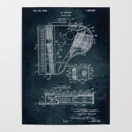 Grand Piano patent Poster