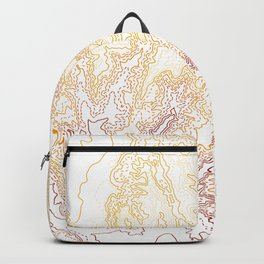 Contour Map of Bryce Canyon, Utah Backpack