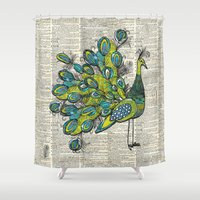 peacock Shower Curtains featuring Peacock  by Sheree Joy Burlington