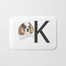 K is for King Charles Cavalier Bath Mat