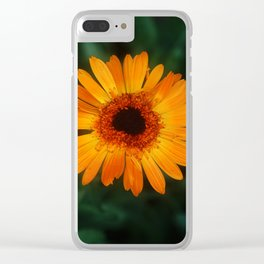 Yellow Flower Clear iPhone Case