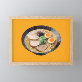 Japanese Tonkotsu Ramen Polygon Art Framed Mini Art Print