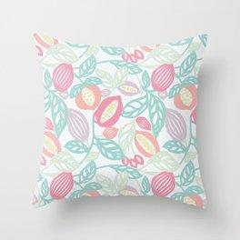 Pastel Fruits Throw Pillow