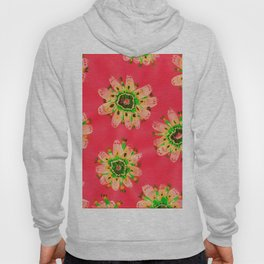 Neon Emerald Lace Rose Hoody