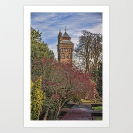 Cardiff Clock Tower. Art Print