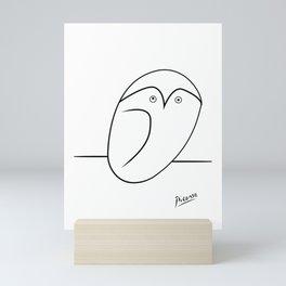 picasso owl line art Mini Art Print