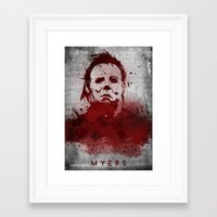 michael myers Framed Art Prints featuring Myers by Colo Design