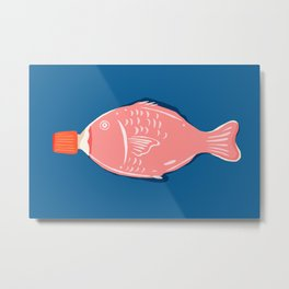 Abstraction_Little_Fish_Sauce_Minimalism_001 Metal Print