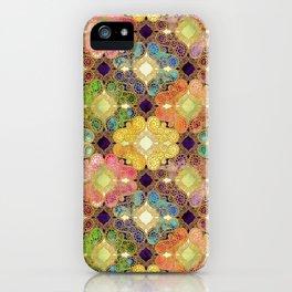 Marrakesh Flowers violet iPhone Case