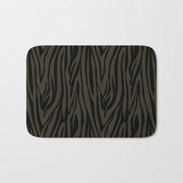 Sophisticated Black and Grey Zebra Print Pattern Bath Mat