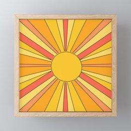 Sun rays Framed Mini Art Print