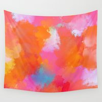 blush Wall Tapestries featuring blush by Lasse Egholm