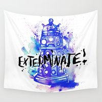 dalek Wall Tapestries featuring Doctor Who Dalek by Jessi Adrignola
