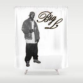 Big L //Black&White Shower Curtain