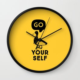 Go Duck Yourself Wall Clock