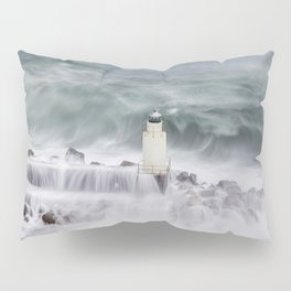 Camogli, the lighthouse in the storm Pillow Sham
