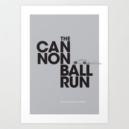 The Cannonball Run - Aston Martin DB5 Art Print
