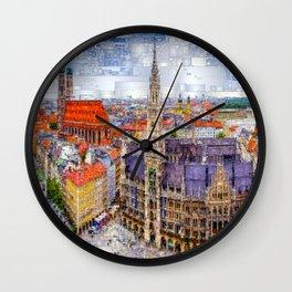 Munich Cityscape Wall Clock
