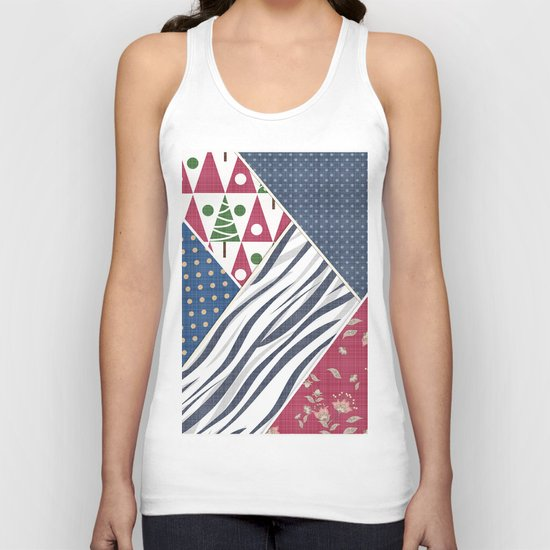 Abstract pattern .Textile patchwork patchwork . Unisex Tank Top